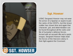SGT. Howers Card