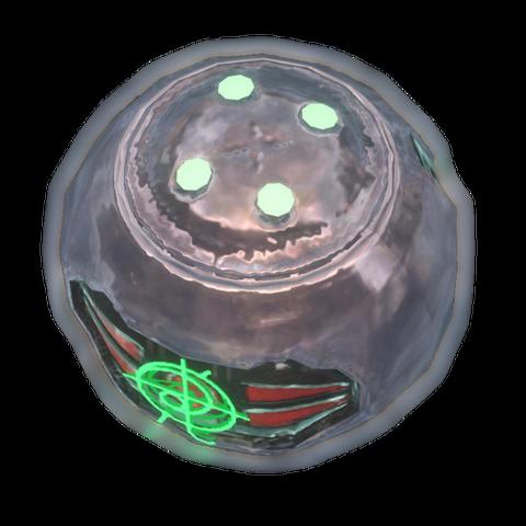 Eine Version der Typ-1 Plasmagranate, während der <a href=