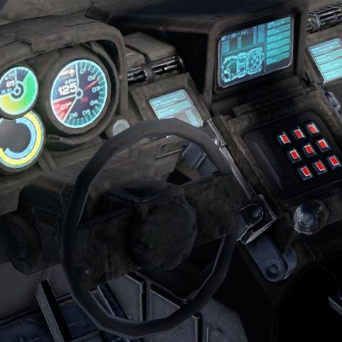 M12B多用途突击载具的驾驶仪表。