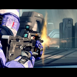 Una parte del multiplayer di Halo 4.