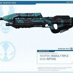 Das Sturmgewehr mit Riptide (RPT) Skin