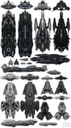 Concepto de Arte Naves de Guerras Humanas Prehistóricas