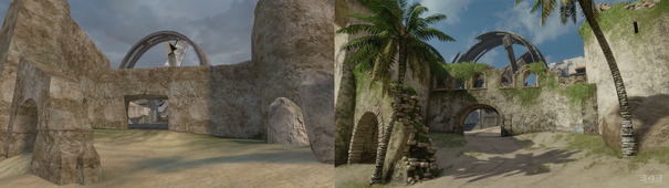 Comparison H2-H2A Zanzibar Beach
