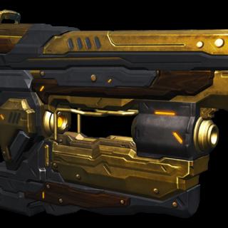 Die Bolzenpistole mit Engine (ENG) Skin