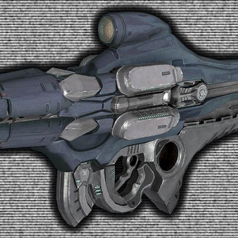 Eine Version des Typ-52 Plasmawerfers, während der Schlacht um Reach.