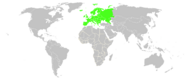 World map Europe colour