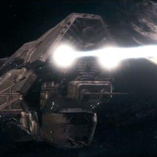 I CAM della UNSC <i>Infinity</i> aprono il fuoco contro la nave del Didatta