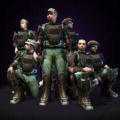 Una clip art dei Marines in Halo: Combat Evolved