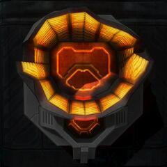 Un Lanciatore di Sentinelle distrutto (in Halo 3)