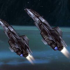 Due caccia spaziali Sabre