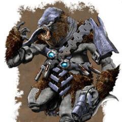 Concept art di un Brute per Halo 2