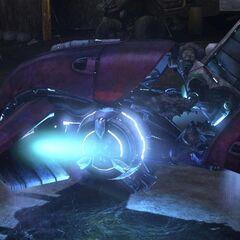 grunt cannoniere a bordo di un Ghost in Halo 3