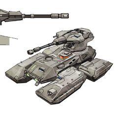 Concept Art dell'M808 Scorpion in <i><a href=