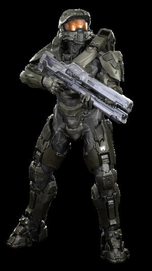 Master Chief con Railgun - Halo 4