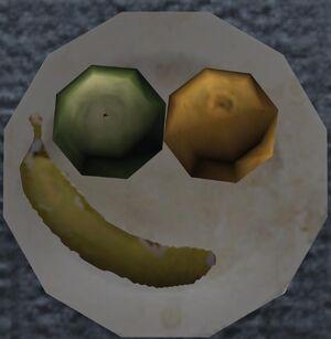 Cara feliz en plato H3