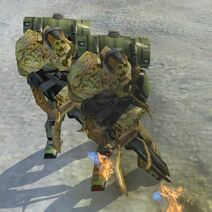 Flood combat flamethrower