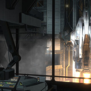 La partenza del Sabre dalla rampa di lancio