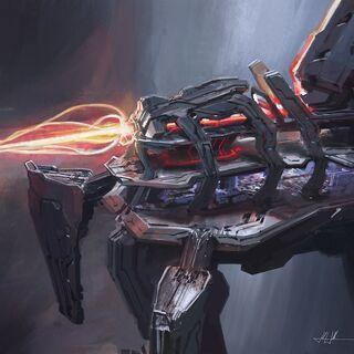 Vecchio concept art del Compositore in <i>Halo 4</i>.