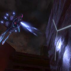 Die Huragok, welche ihre spezielle Rüstung tragen, haben eingebaute Lampen am Kopfbereich, um sich auch bei dunklen Arialen zurechtzufinden.