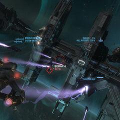 La battaglia spaziale avvenuta nei pressi della stazione spaziale Anchor 9