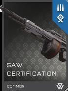 REQ Card - SAW Certification