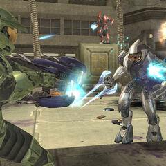 Violento scontro tra Chief e due Elite in Halo 2