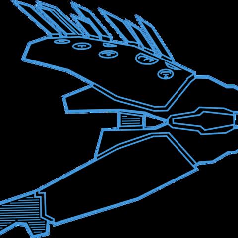 Eine Blaupause des Typ-33 Nadelwerfer