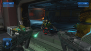 H2A - MC uses SMGs against Grunt
