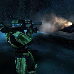 Chief spara con l'M41 in Halo Anniversary