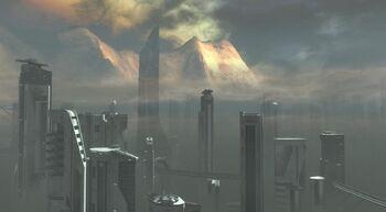New Alexandria vista città