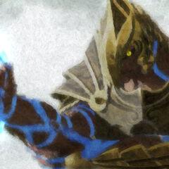 L'Arbiter Fal 'Chavamee prima del duello con Harka