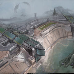 Concept art of Halo 3: ODST.