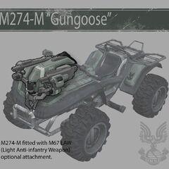 Die montierbare M67 LAW Gungoose