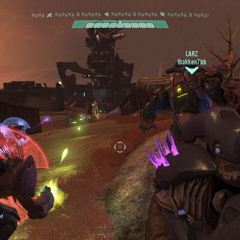 Un giocatore Elite nella mappa Avamposto