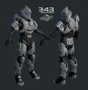 H4 Hayabusa armor 3d model-2