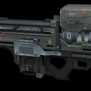 Eine Version des GGNR Spartan Lasers welches während der Schlacht um Reach verwendet wurde.