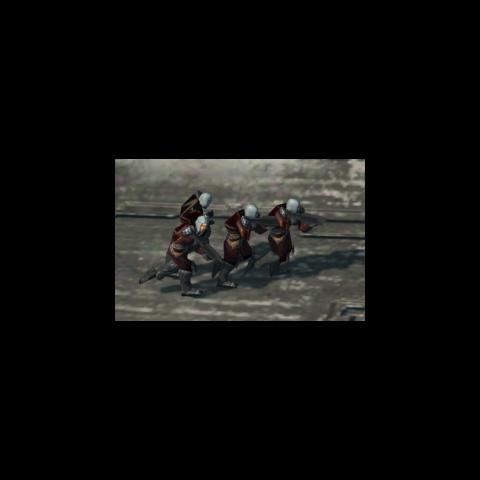 Eine Gruppe der unbekannten Rebellen aus Halo Wars