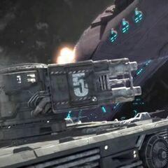 <i>Spirit of Fire</i> deck guns.
