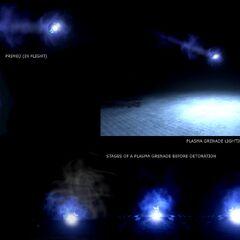 L'effetto che precede l'esplosione di una <b>Granata al Plasma</b>