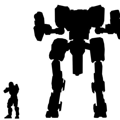 Ein Größenvergleich zwischen Mantis und Spartan.