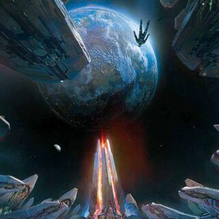 Concept art del Compositore in <i>Halo 4</i>.