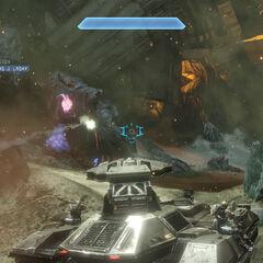 L'M808 Scorpion mentre viene utilizzato nella Campagna di <i><a href=