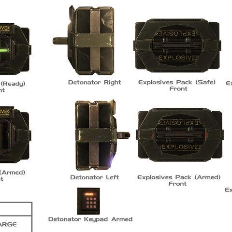 verschiedene Konzepte der M168 Sprengladung