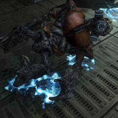 Die Unggoy haben hellblaues, biolumineszentes Blut.