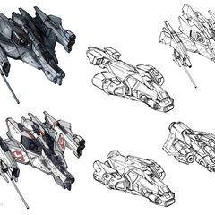 军刀号的几种早期概念设计。