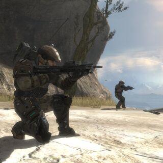 Soldaten während eines Kampfeinsatzes.