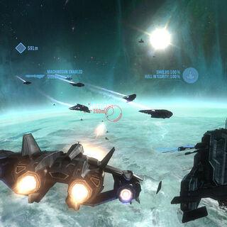 La battaglia spaziale di Anchor 9