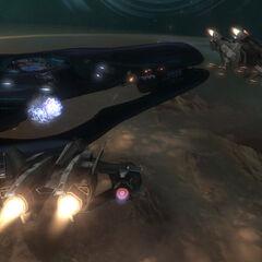 La corvette nella missione Notte Del Solstizio