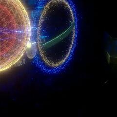 Eine holographische Darstellung des Bruchstück