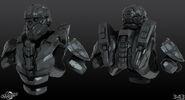 H4 CIO Helmet and torso 3d model